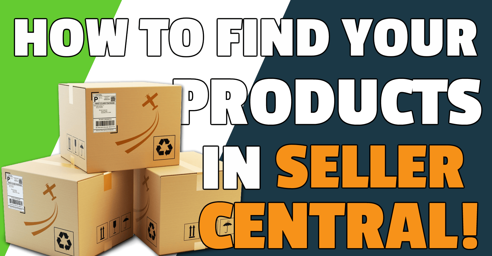 How to find products in your Amazon Seller Central account