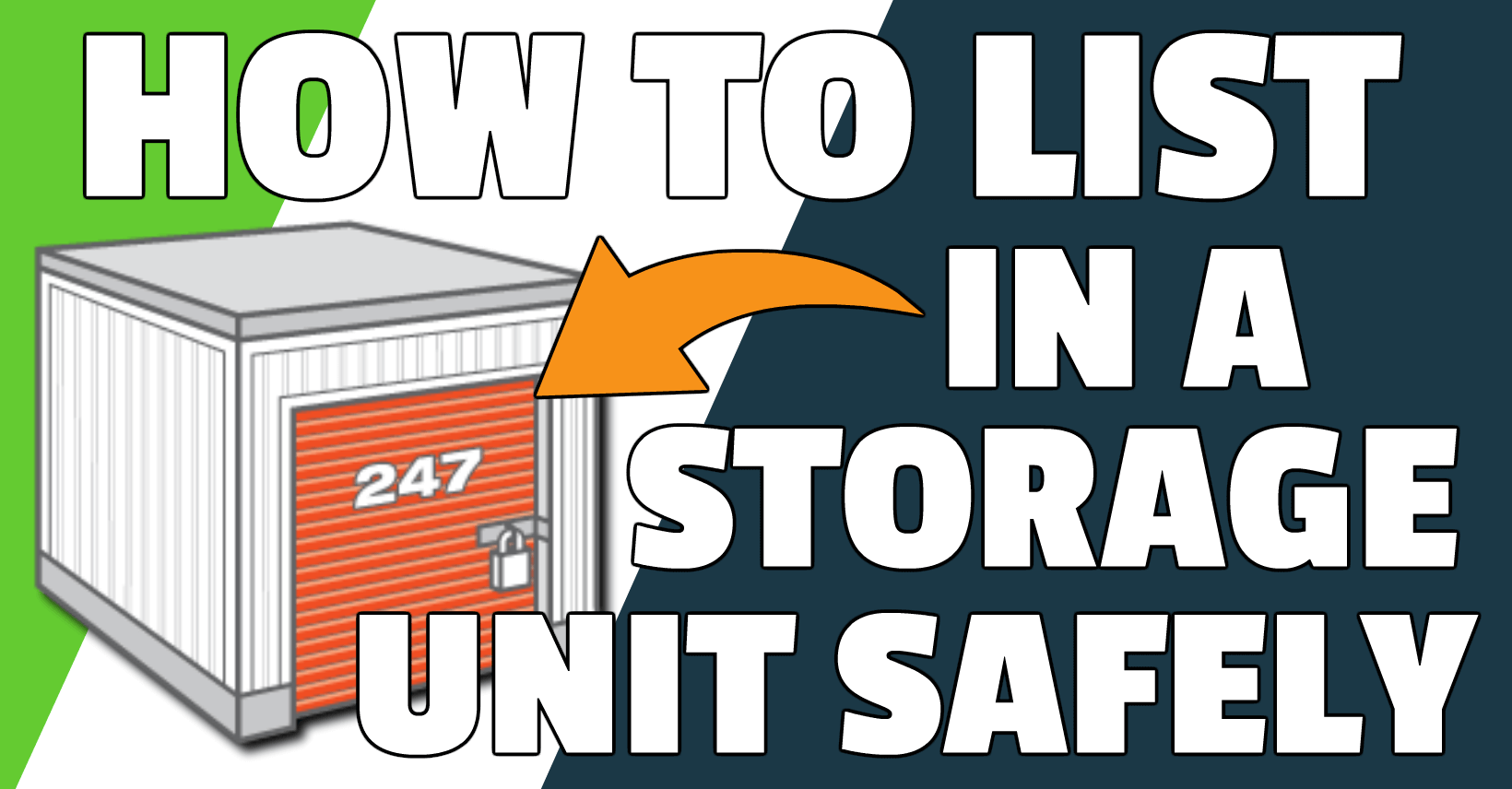 How to list Amazon products in a storage unit safely.