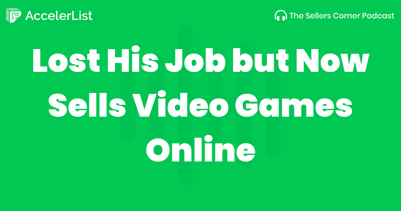 Lost His Job but Now Sells Video Games Online